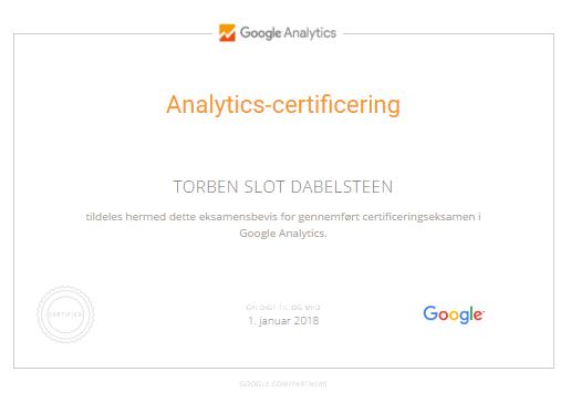Google Analytics-certificering