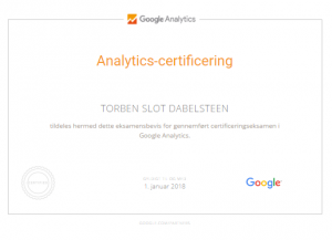 Google Analytics-certificering